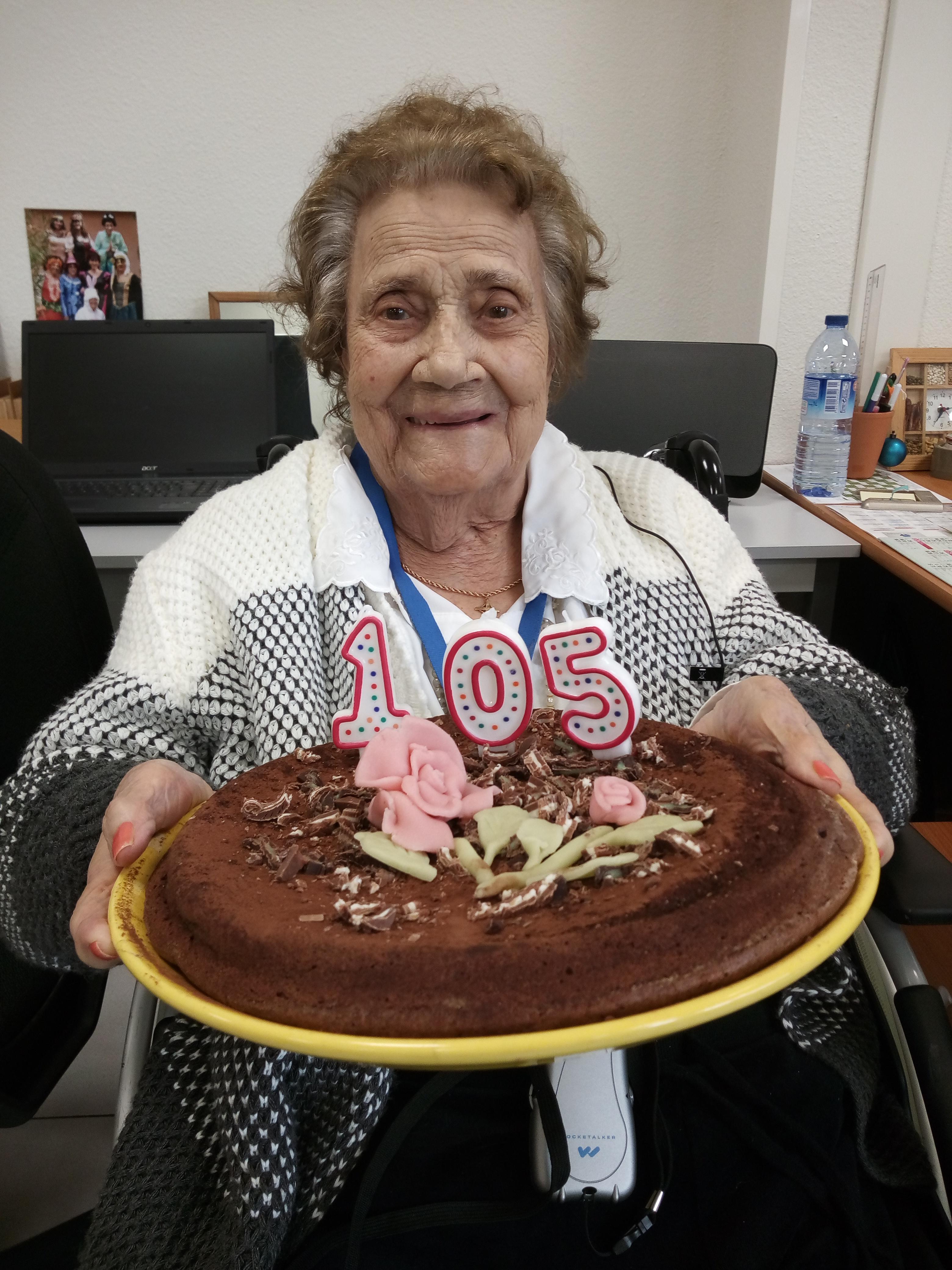 cette semaine nous avons célébré les 105 ans d'une de nos résidente à la maison de retraite Sainte Victoire
